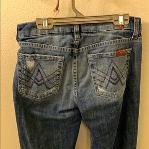 7 of Man Kind women's jeans extra wide bootcut